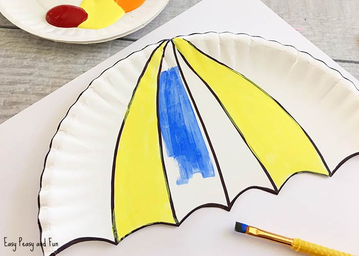 Umbrella Paper Plate Craft Weather Crafts For Kids Easy Peasy & umbrella crafts | Crafting