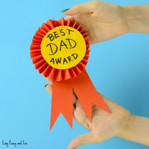 Award Ribbon Father's Day Craft