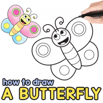 How to Draw a Butterfly Step by Step for Kids + Printable