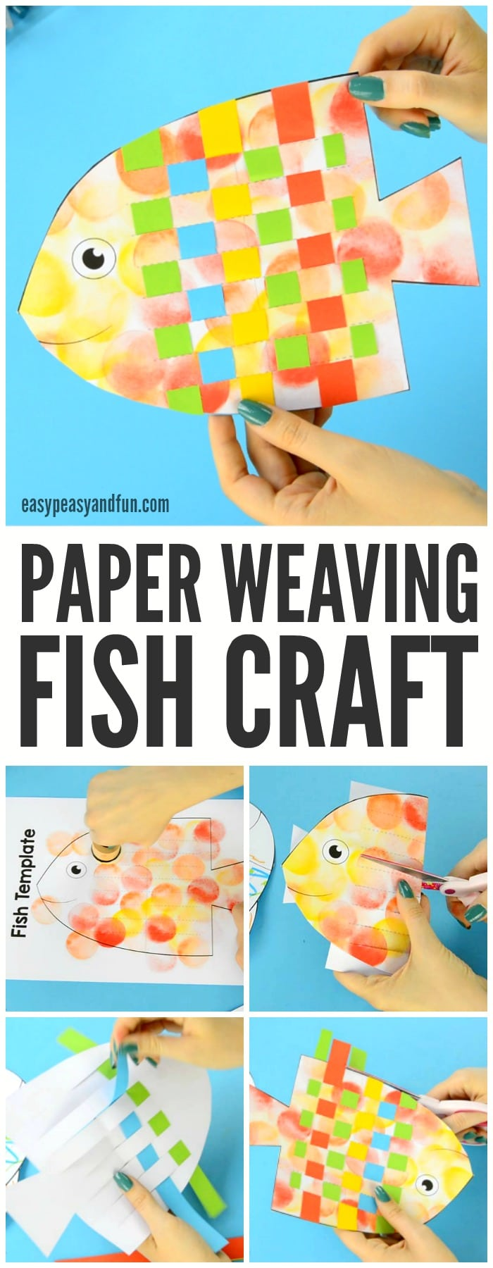 Fish Paper Weaving Craft Easy