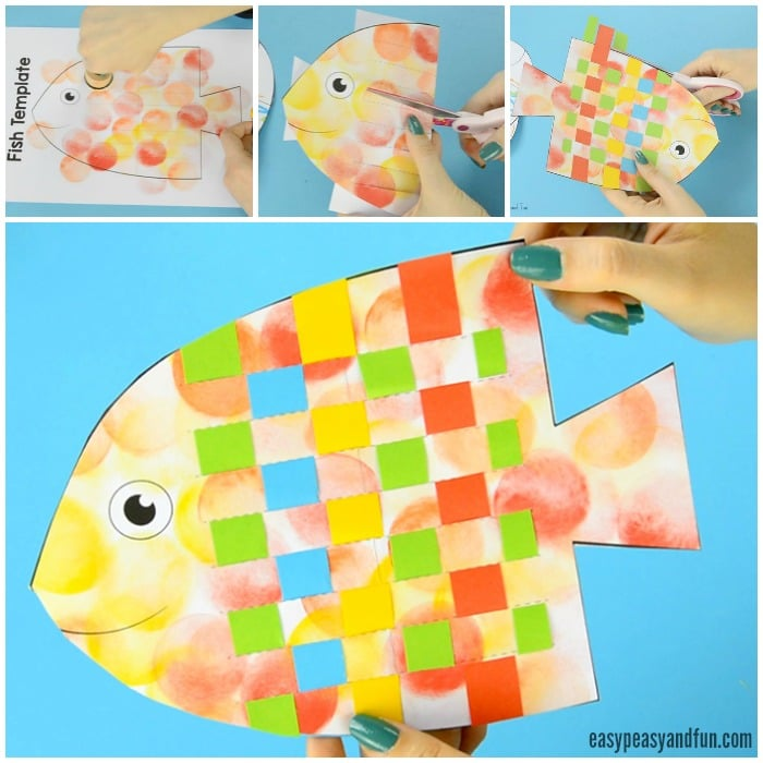 Colorful Fish Paper Weaving Craft
