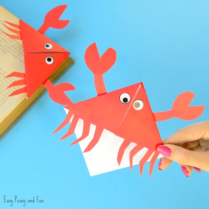 Crab Corner Bookmarks – Ocean Animals Origami for Kids