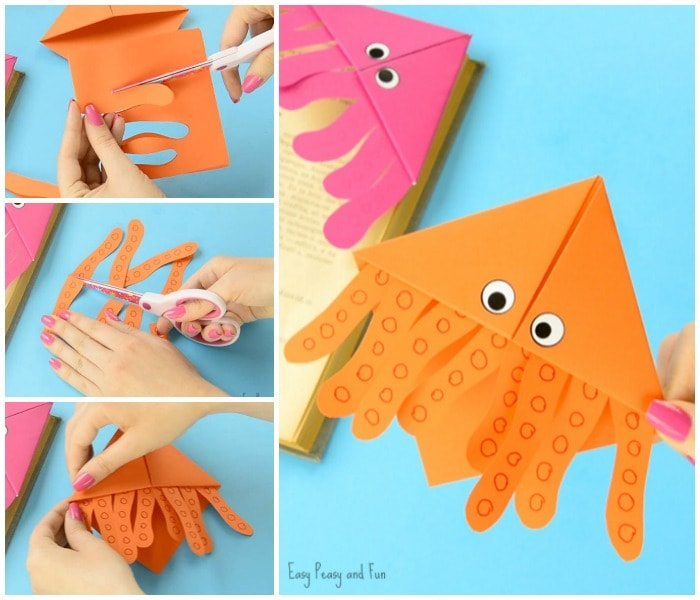 Cute Octopus Corner Bookmarks