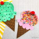 Paper Plate Ice Cream Craft – Summer Craft Idea for Kids