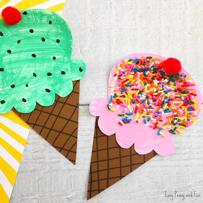 Cute Paper Plate Ice Cream Craft