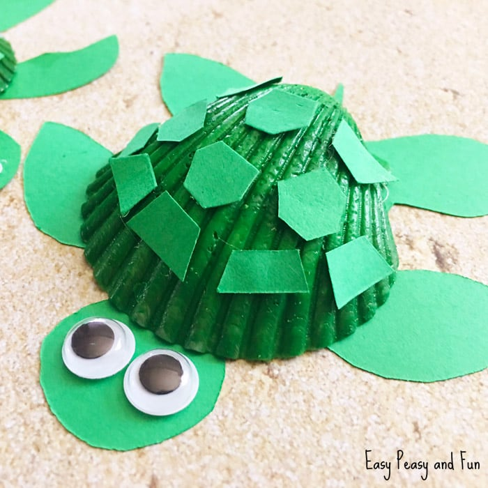 Cute Seashell Turtle Craft for Kids - Summer Craft for Kids to Make