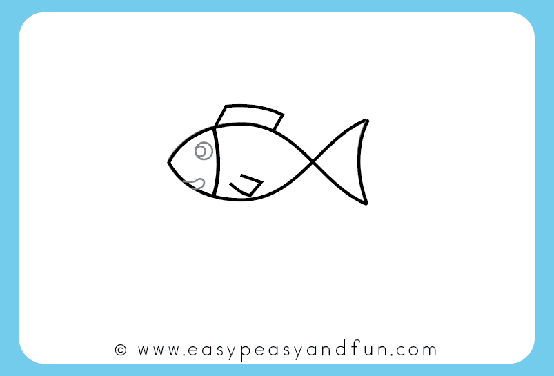 Draw a fish face