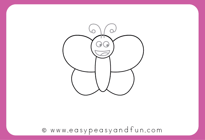 How To Draw A Butterfly Step By Step For Kids Printable Easy