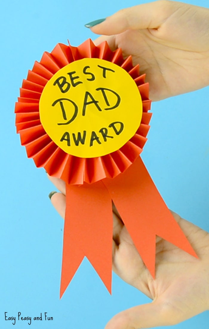 Father's Day Craft DIY Paper Award Ribbon