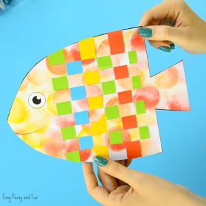 Fish Paper Weaving Craf for Kids
