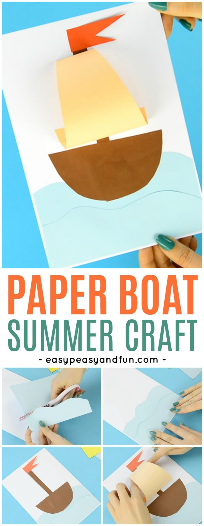Fun And Simple Paper Boat Craft for Kids to Make