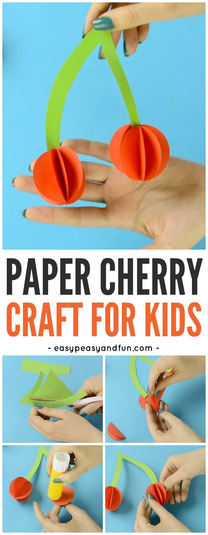 Fun Paper Cherry Craft for Kids
