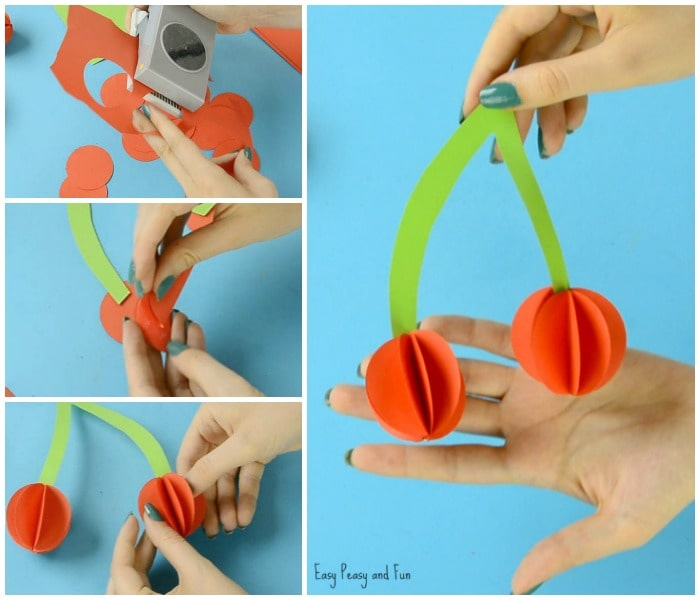 Fun Paper Cherry Craft