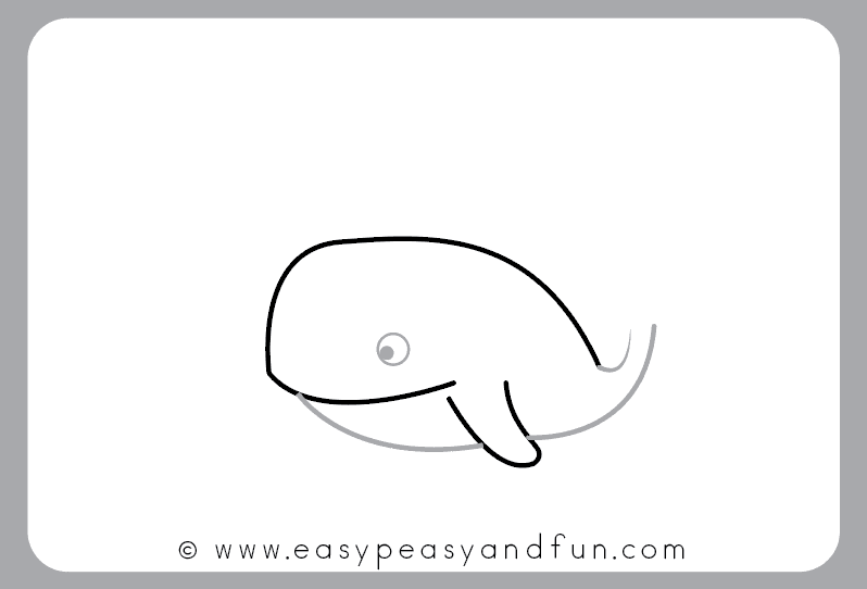 How To Draw A Whale Step By Step Cartoon Style Easy Peasy And Fun