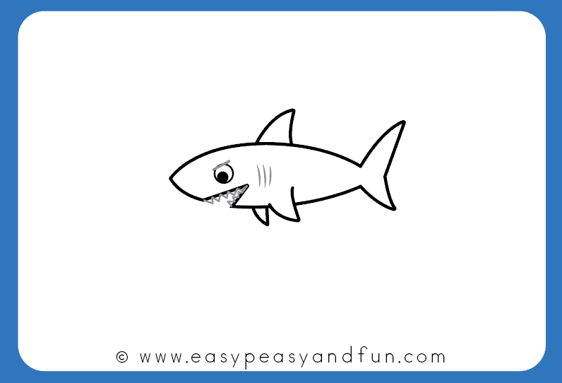 You just learned how to draw a shark see it was easier than you have thought