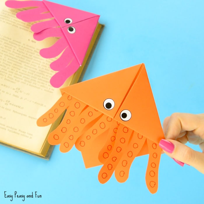 Octopus Corner Bookmarks Origami for Kids