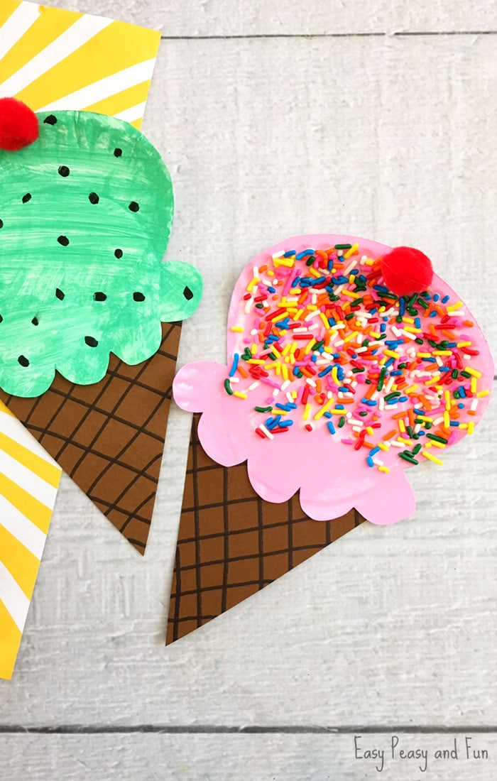 Paper Plate Ice Cream Craft  Summer Craft Idea for Kids  Easy Peasy and Fun