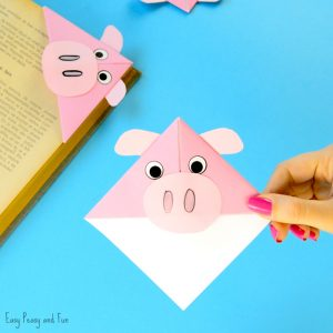 Pig Corner Bookmarks Craft for Kids
