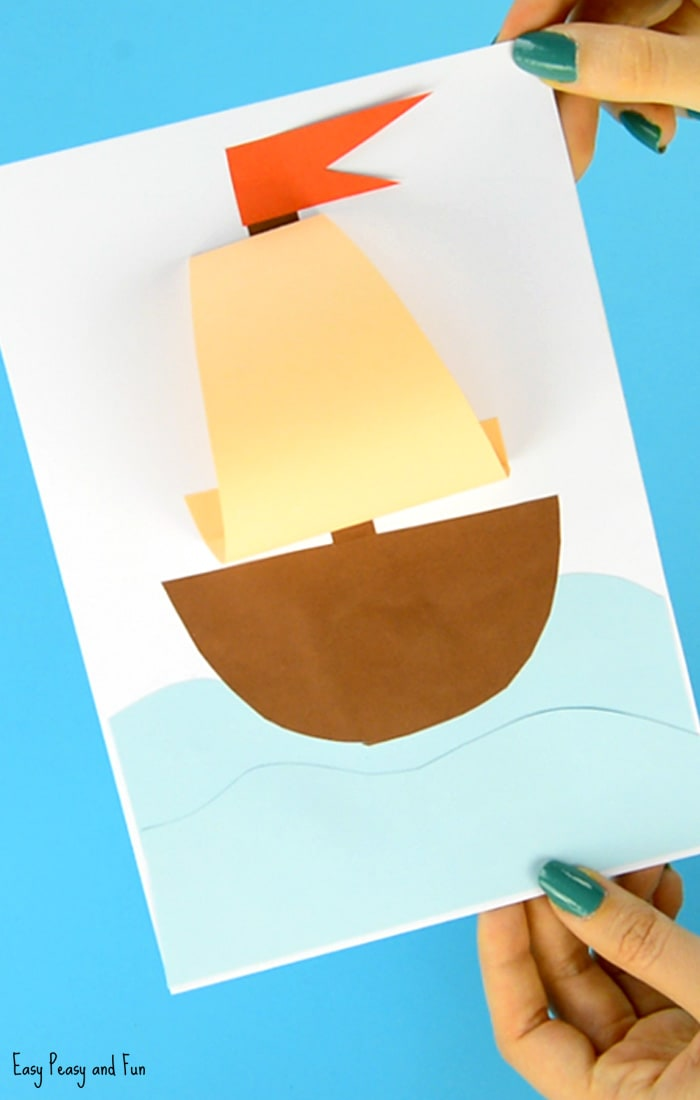 Simple Paper Boat Summer Craft for Kids to Make