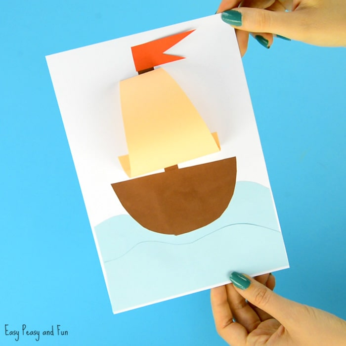 Simple Paper Boat Summer Craft for Kids