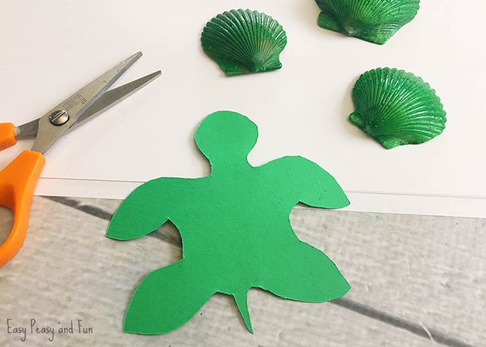 how to make a turtle with construction paper