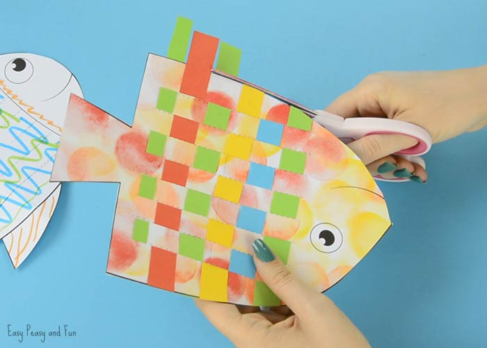 Fish Paper Weaving Craft Easy Peasy And Fun