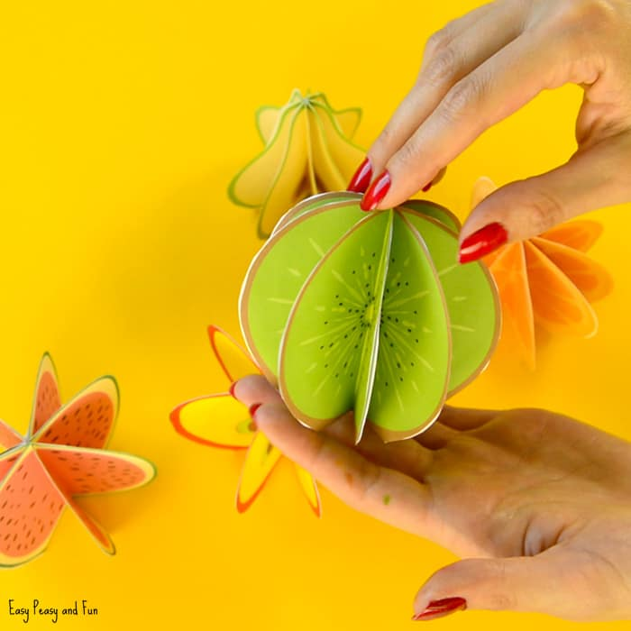 3D Paper Fruit Craft