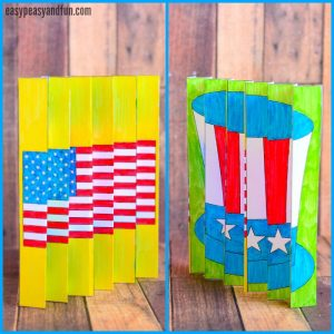 4th of July Agamograph Template for Kids