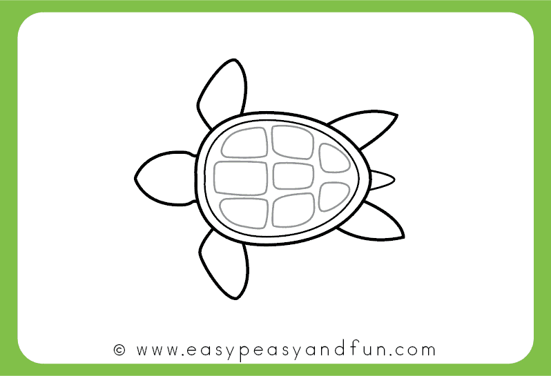 Line Drawing Turtle : How to draw a turtle step by drawing tutorial