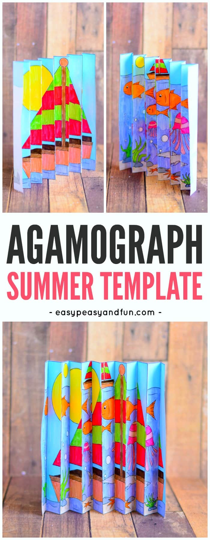 Summer Agamograph Template Easy Peasy And Fun