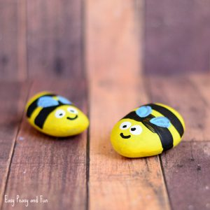 Bee Painted Rocks