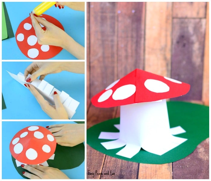 Paper Mushroom Craft Easy Peasy And Fun