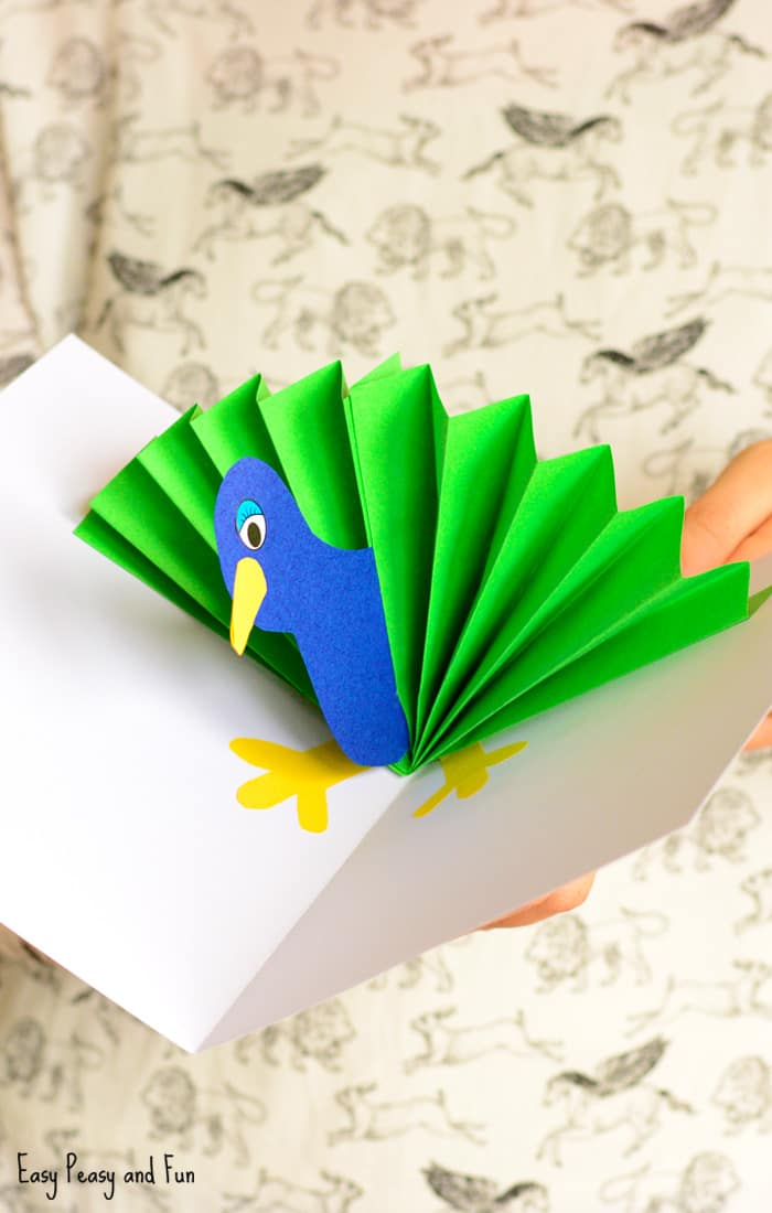 Make A Cardboard 3d Model Of Your Area Using Local: Peacock Pop Up Card Paper Craft