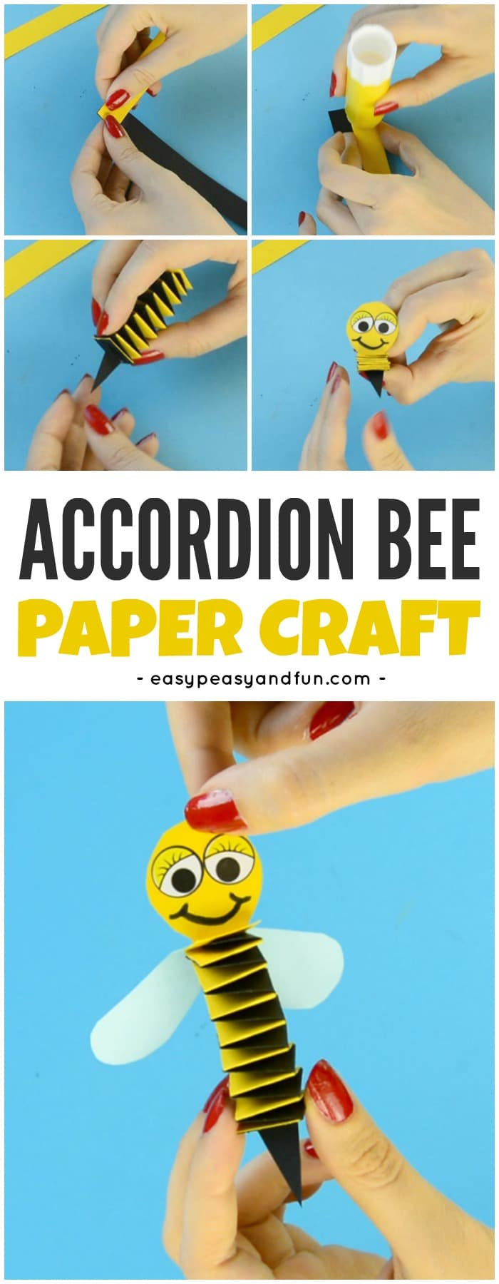 accordion paper bee craft accordion paper bee craft easy peasy and 3310