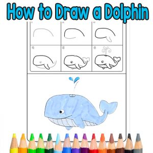 how to draw a whale step by step easy