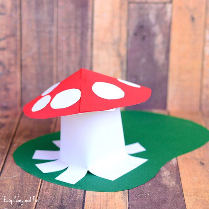 Paper Mushroom Craft for Kids to Make