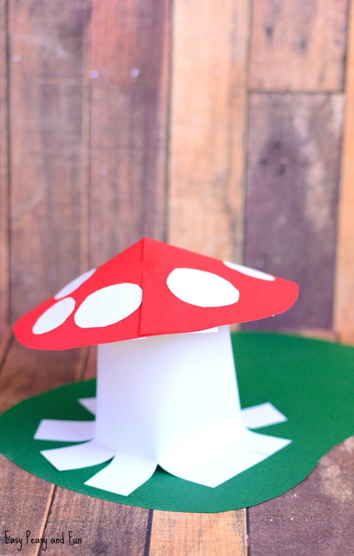 Paper Mushroom Craft for Kids
