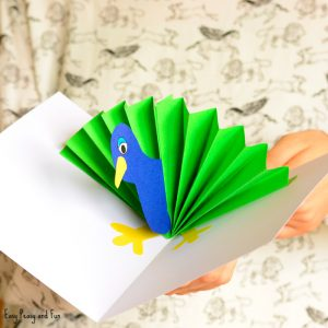 Peacock Pop Up Card Paper Craft