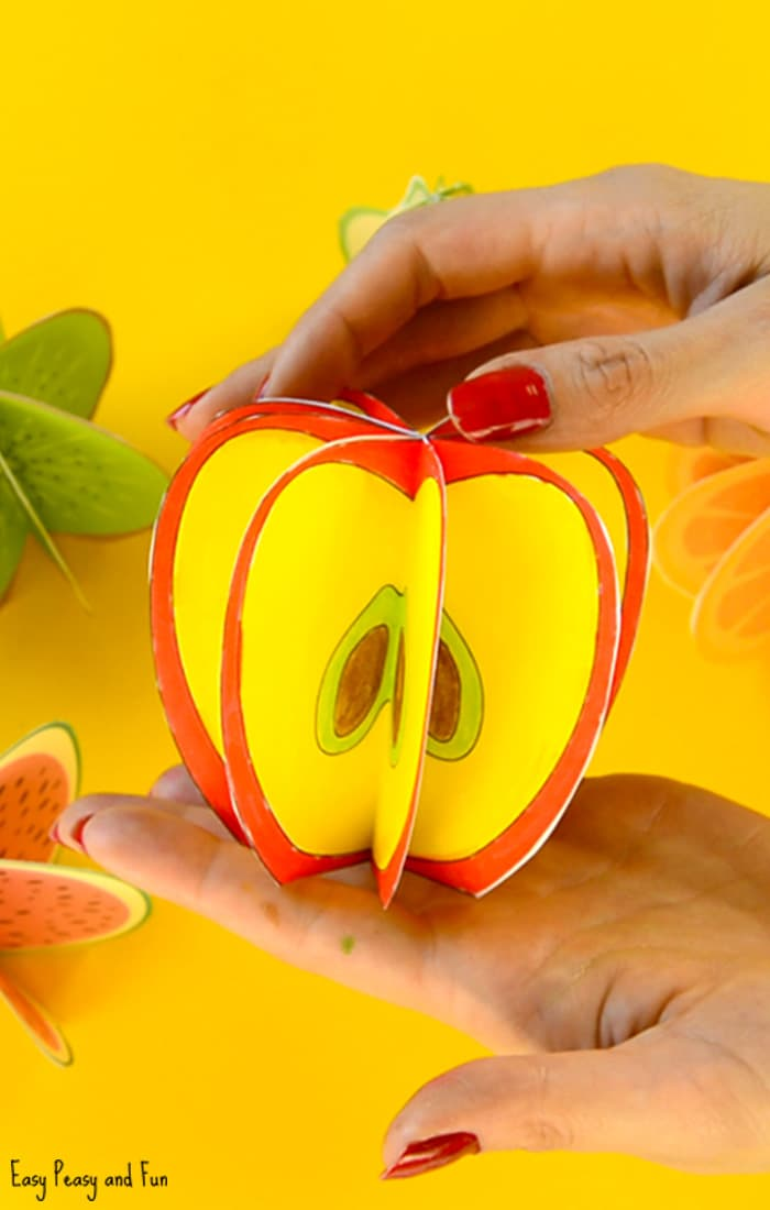 Printable 3D Paper Fruit Craft