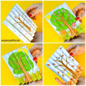 Printable Four Season Agamograph Craft