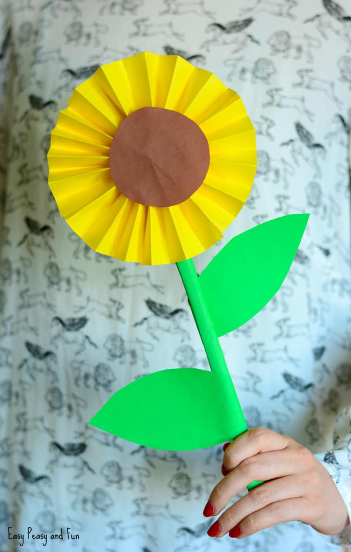 Simple Sunflower Paper Craft Idea for Kids
