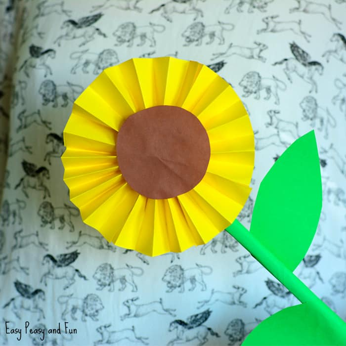 Sunflower Paper Craft Idea Easy Peasy And Fun