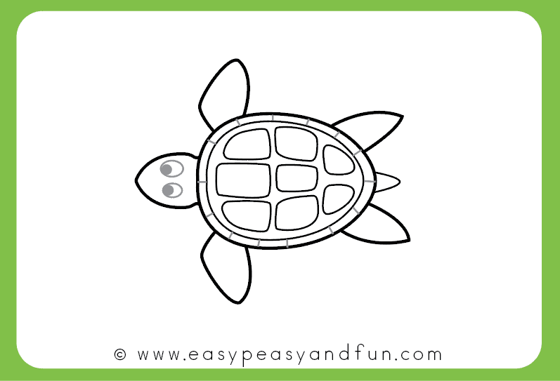 How To Draw A Turtle Step By Step Drawing Tutorial Easy Peasy