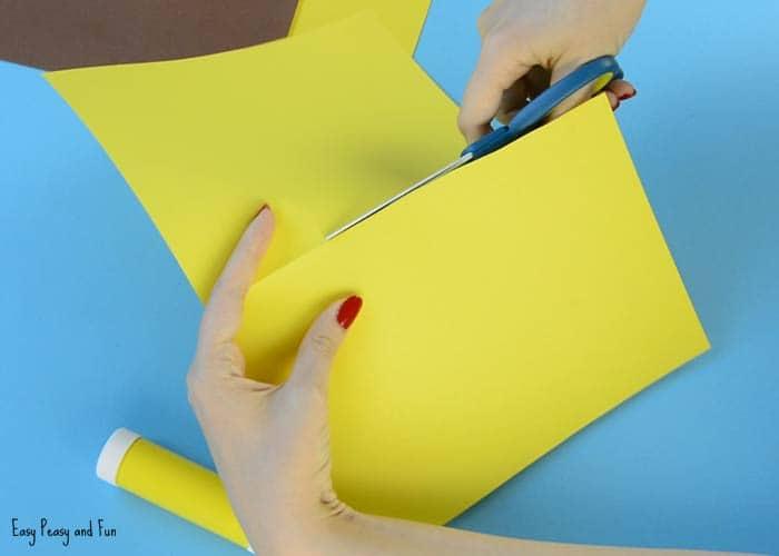 Sunflower Paper Craft Idea Easy Peasy And Fun