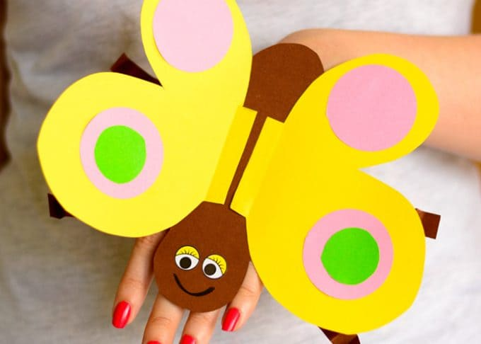 Butterfly Paper Hand Puppet