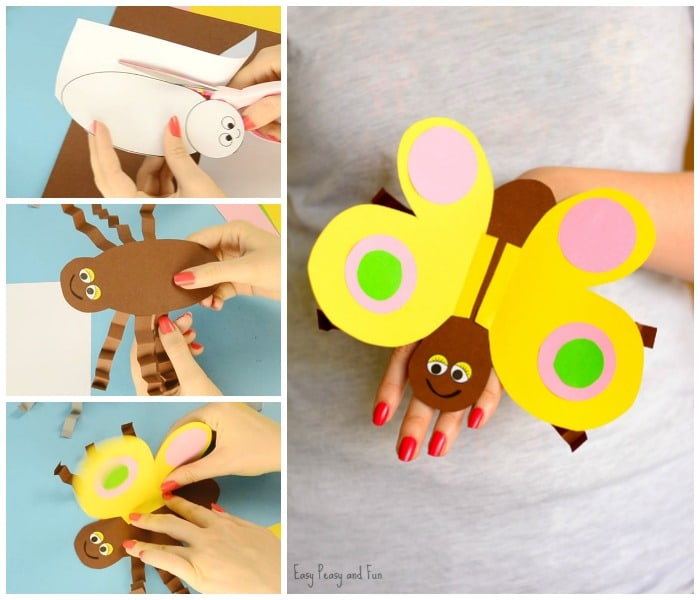 Butterfly Paper Hand Puppet Craft for Kids