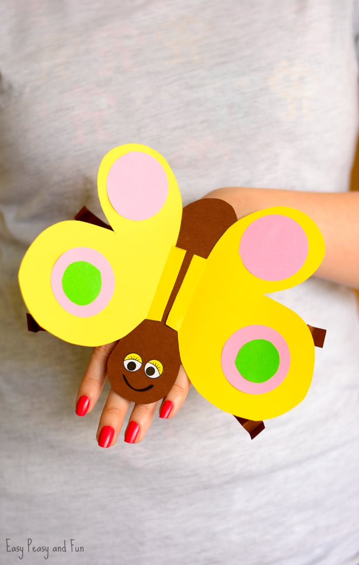 Easy Peasy And Fun: Butterfly Paper Hand Puppet