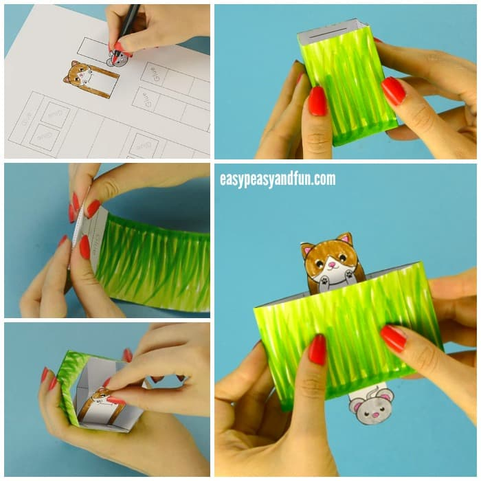 Cat Pop Up Box Paper Toy