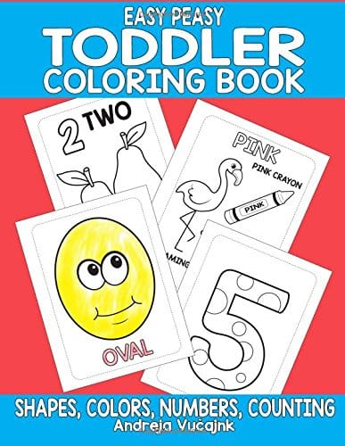 Coloring Book for Toddlers - Easy Peas Toddler Coloring Book