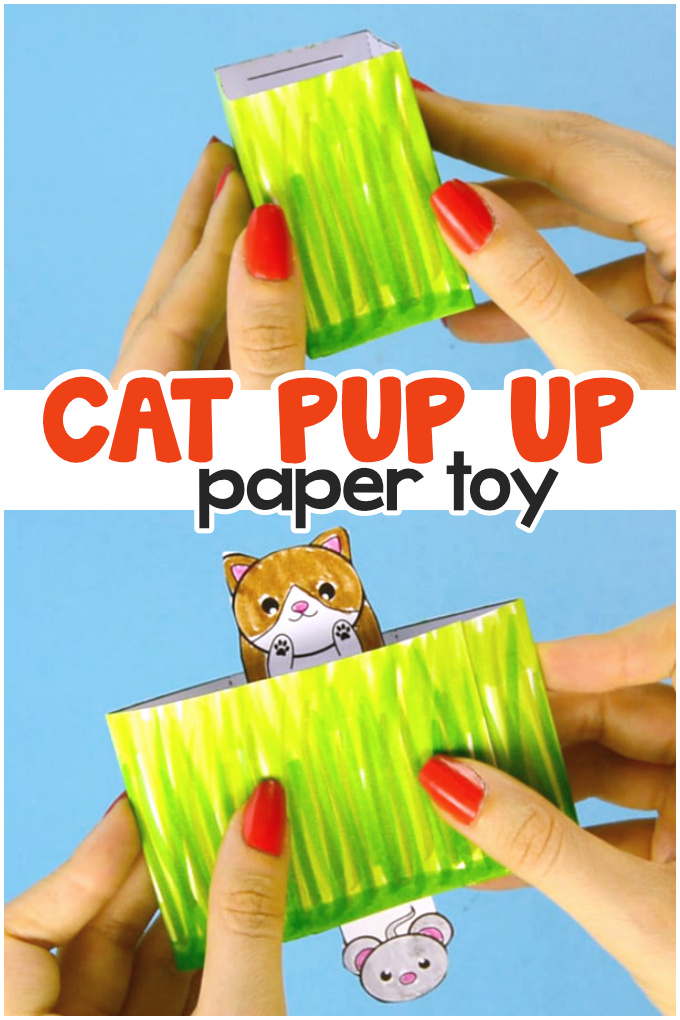 How to Make Cat Pop Up Paper Toy for Kids